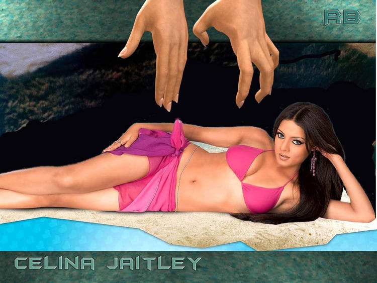 Celina Jaitley Exposing Hot Things Wallpaper