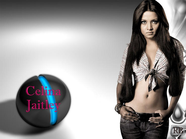 Celina Jaitley Sexy Navel Show Wallpaper