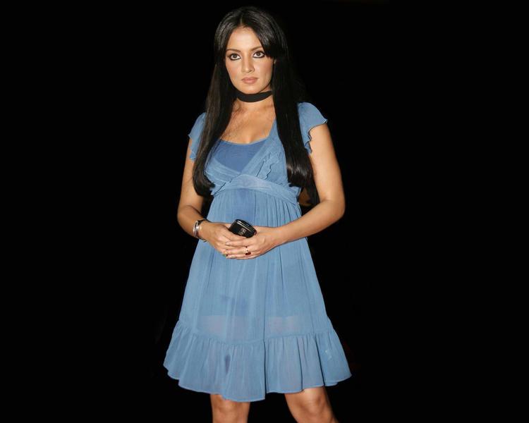 Celina Jaitley Short Dress Nice Pics