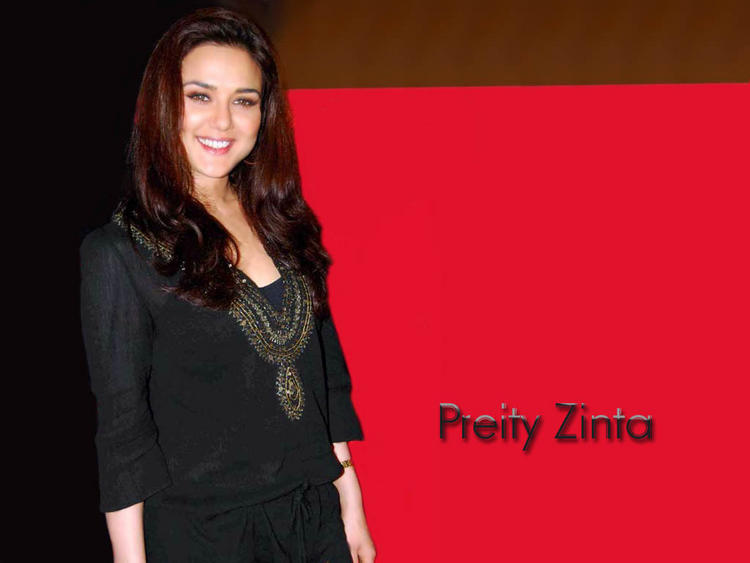 Preity Zinta Cute Smile Look Wallpaper