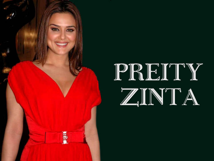 Preity Zinta Latest Pic In Red Dress