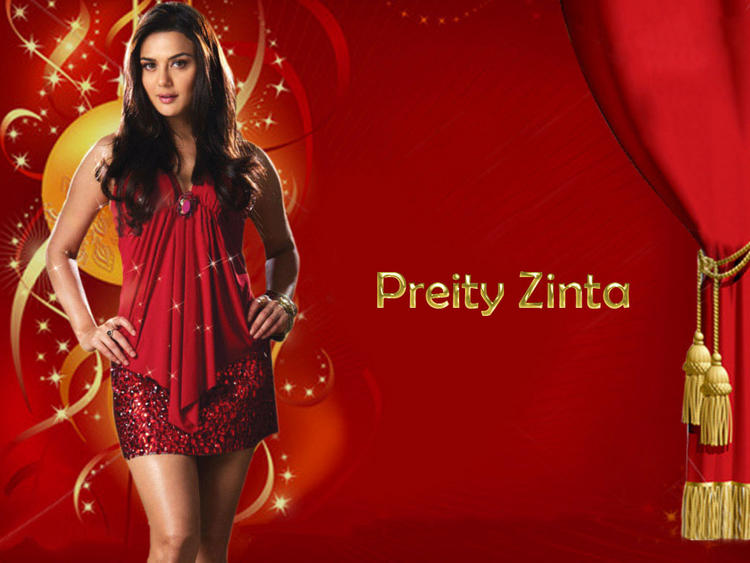 Preity Zinta Red Dress Stylist Wallpaper