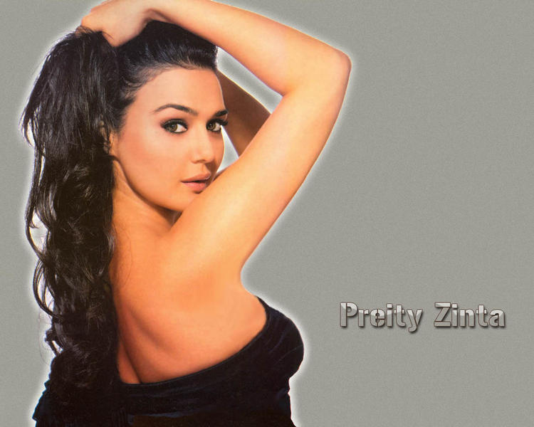 Preity Zinta Strapless Dress Hot Wallpaper