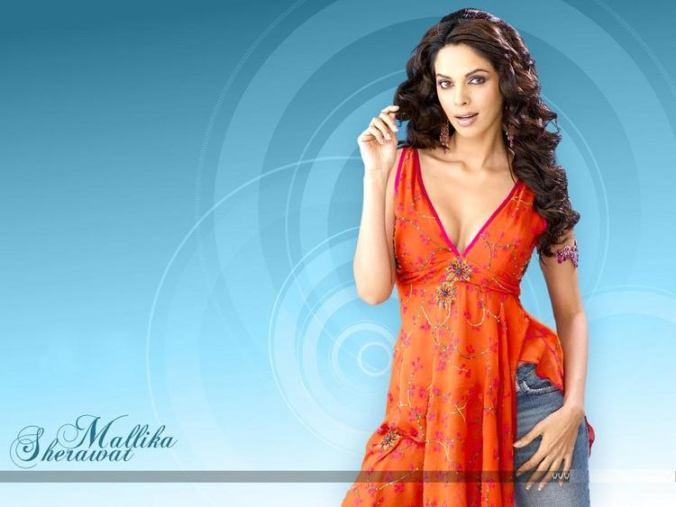 Mallika Sherawat Glowing Wallpaper