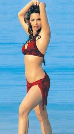 Mallika Sherawats Shocking Still In Wet Bikini