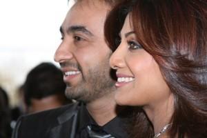 Raj Kundra With Shilpa Shetty Smiling Pics
