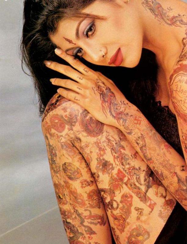 Stylist Shilpa Shetty Showing Her Tatoo Pics
