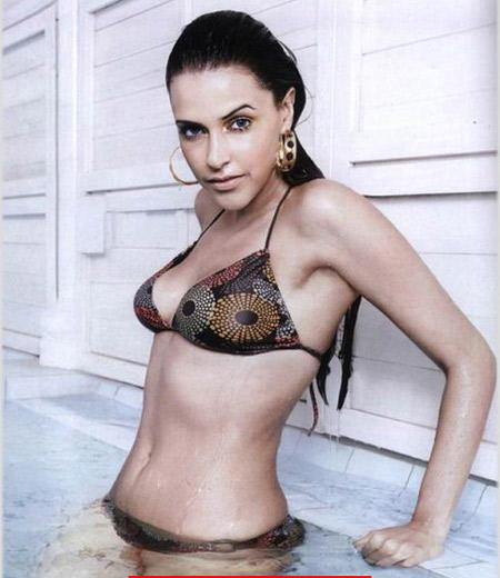 Neha Dhupia Wearing Bikini Sexy Photo