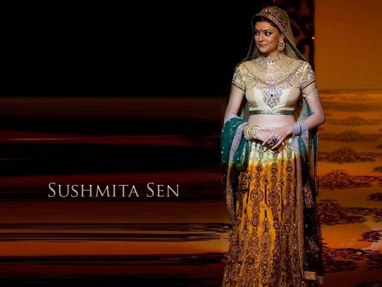Sushmita Sen Bridal Dress Sizzling Wallpaper