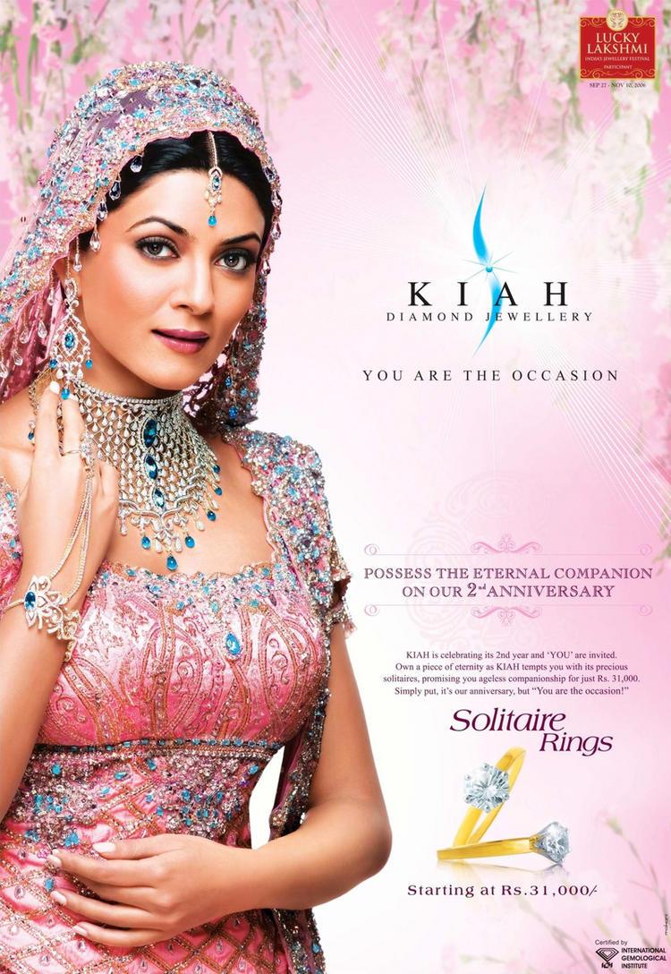 Sushmita Sen Kiah Jewellery Ad Wallpaper