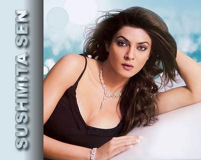 Sushmita Sen Shinny Face Look Wallpaper