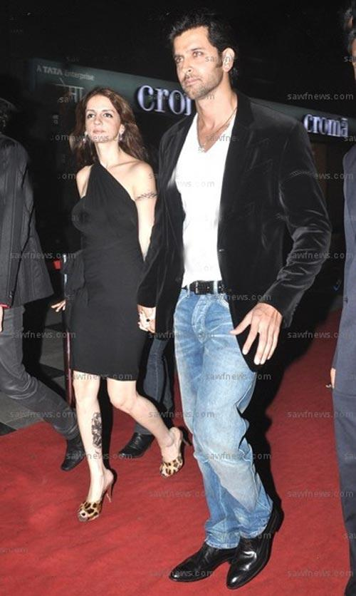 Hrithik Roshan and Suzzane On Red Carpet