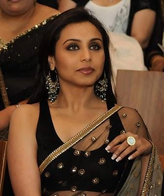 Rani Mukherjee Net Saree Close Up Pic