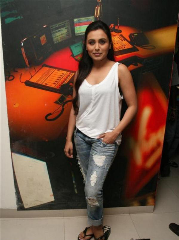Rani Mukherjee Sexy Still In White Tops and Jeans