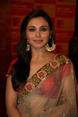Rani Mukherjee Sweet Gorgeous Pic In Transparent Saree