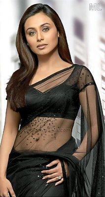 Rani Mukherjee Transparent Saree Beauty Still