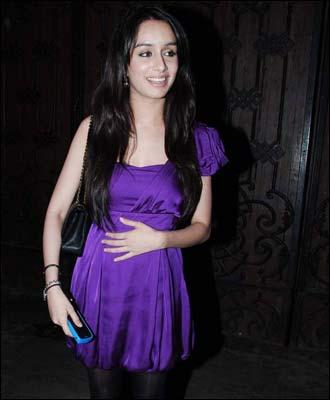 Shraddha Kapoor Blue Dress Sexy Pic