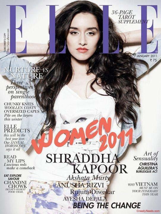 Shraddha Kapoor Elle Magazine Still