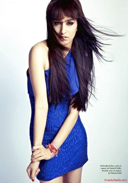 Shraddha Kapoor Sexiest Pic In Blue Dress