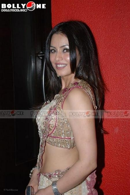 Mahima Chaudhary In Cream Designer Saree