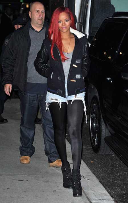 Robyn Rihanna Fenty Red Hair Stylist Pics