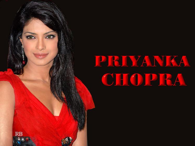 Priyanka Chopra Beauty Still In Red Dress