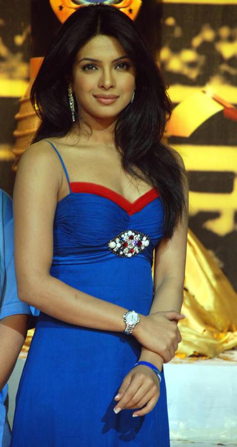 Priyanka Chopra Blue Dress Beauty Still