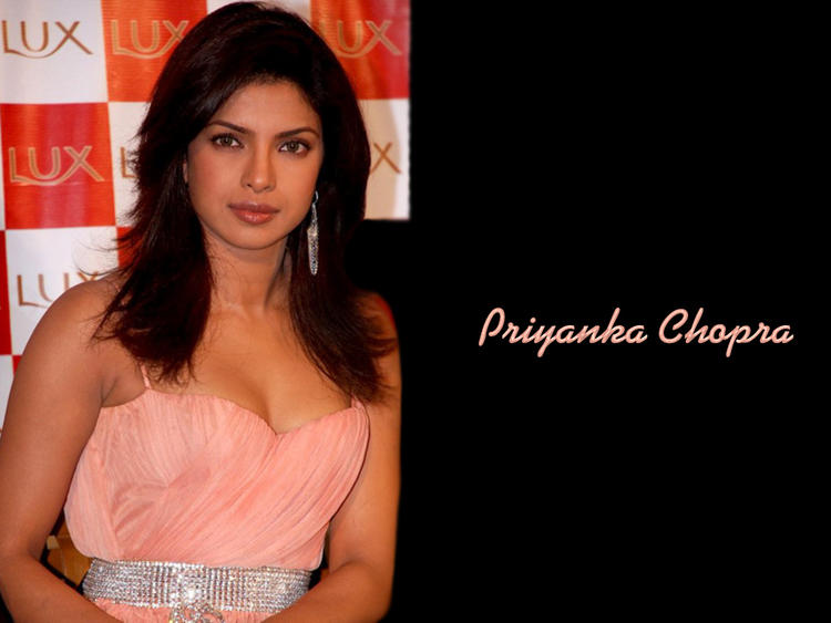 Priyanka Chopra In Pink Dress Sizzling Look Wallpaper