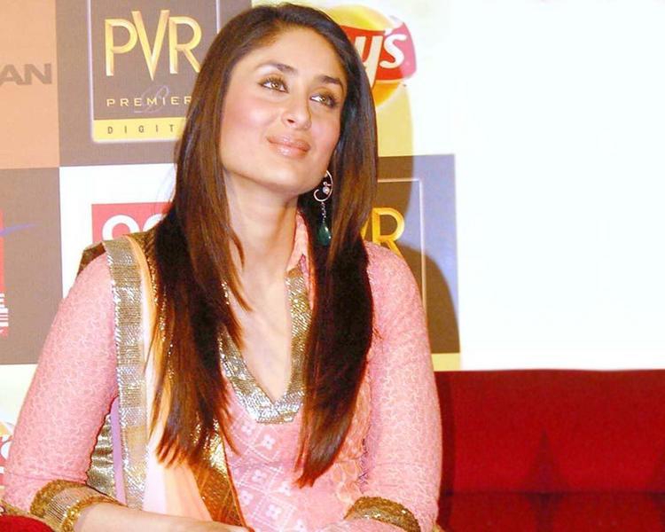 Kareena Kapoor Pink Dress Shiny Face Still