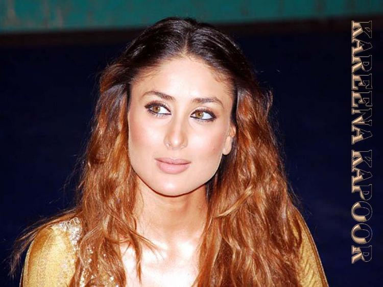 Kareena Kapoor Sexy Face Look Wallpaper In Brown Hair