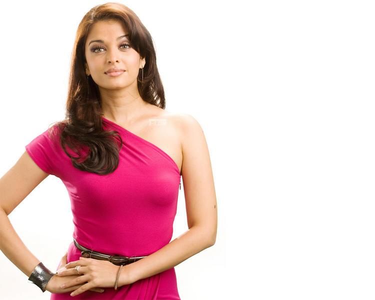 Aishwarya Rai Magenta Dress Hot Wallpaper