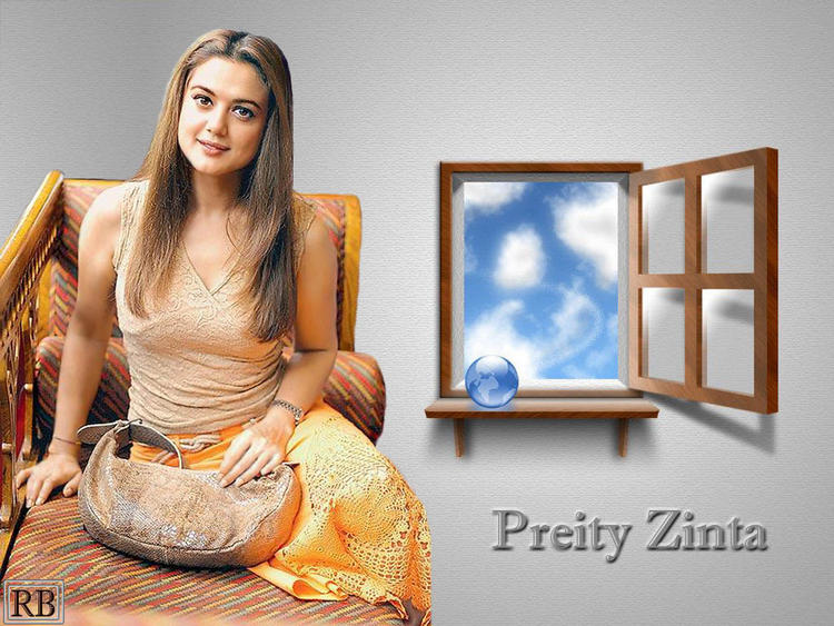 Preity Zinta Dazzling Shiny Look Wallpaper