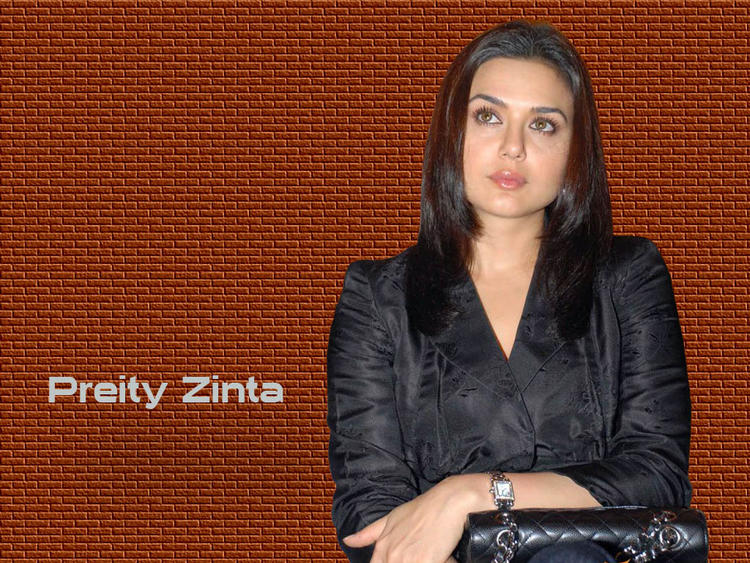 Preity Zinta Hot Wallpaper In Black Blazer