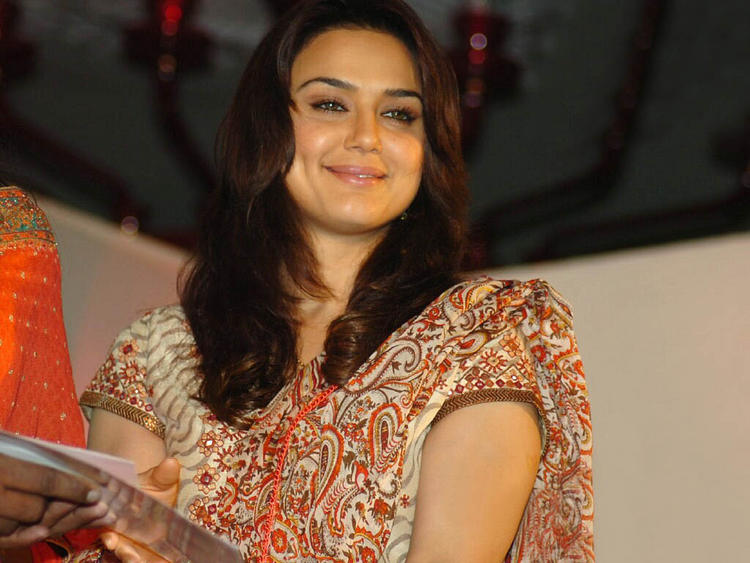 Preity Zinta Sweet Smiling Pose Still