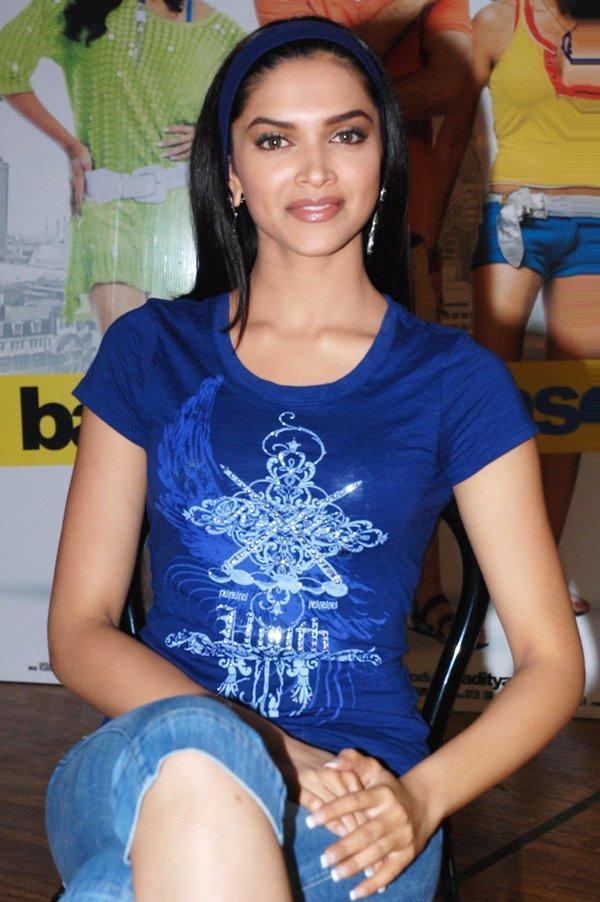 Deepika Padukone Blue Tops Sexy Still