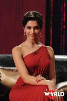 Deepika Padukone Hot Sexy Still In Red Dress