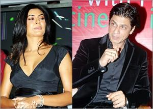 Sushmita Sen And Shahrukh Khan Photo