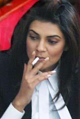 Sushmita Sen Smoking Photo