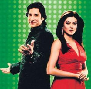 Wasim Akram And Sushmita Sen Photo