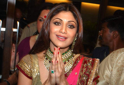 Beautiful Shilpa ShettyGorgeous Look In Her Engagement