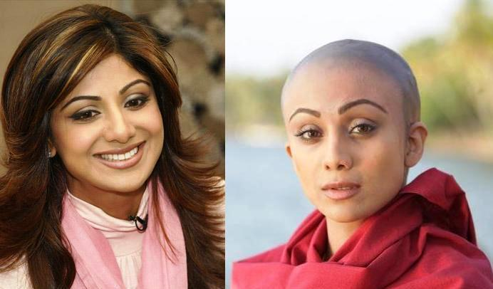 Shilpa Shetty Bald And Beautiful Look Pics