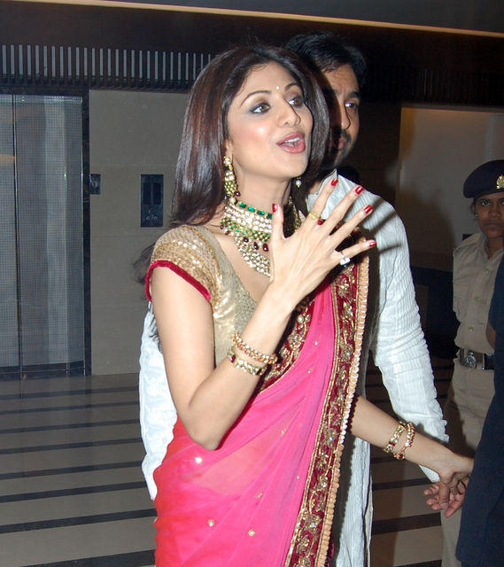 Shilpa Shetty Cute Lips Pics In Her Engagement