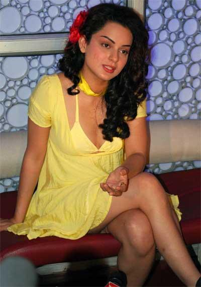 Kangana Ranaut  Sexy Yellow Dress Still