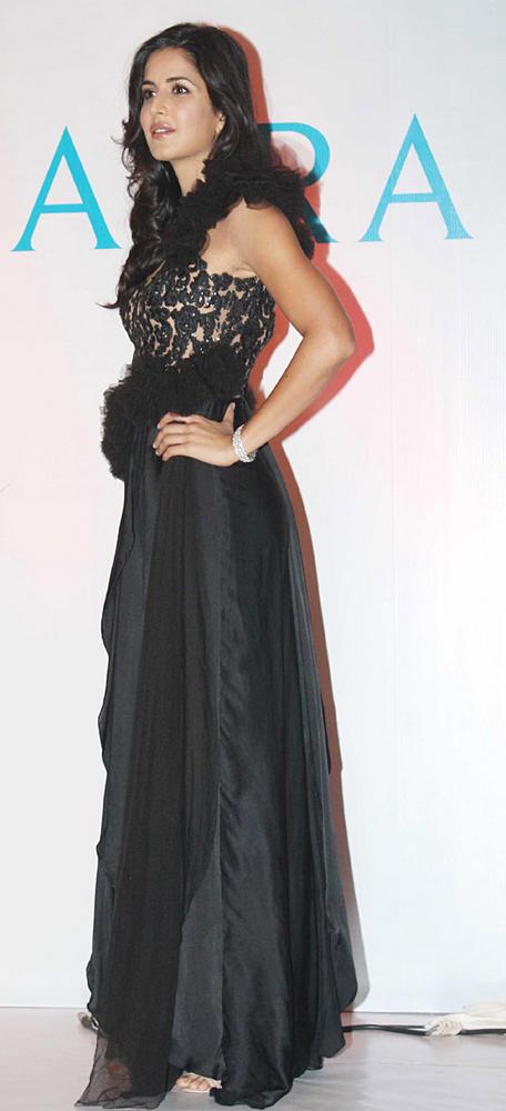 Katrina Kaif In Amazing Gown Still At Nakshatra Jewellery Event