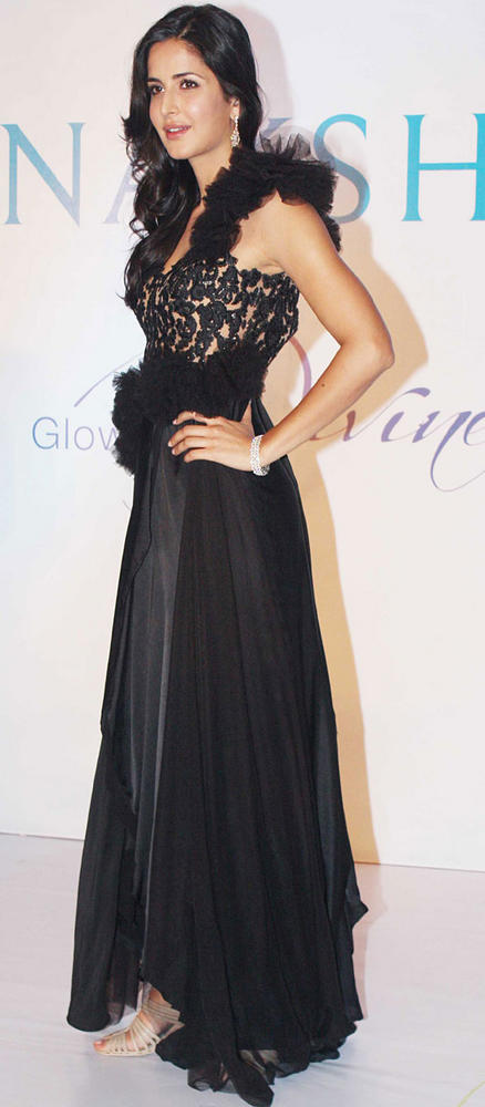 Katrina In Rocky S Designer Gown At Nakshatra Jewellery Event