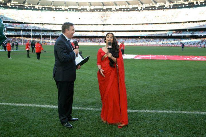 Vidya Balan at an AFL Match in Melbourne