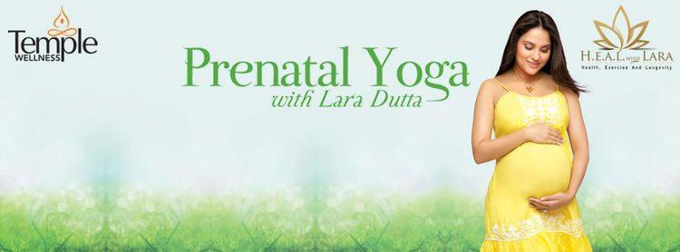 Lara Dutta Print Ads For Prenatal Yoga DVD