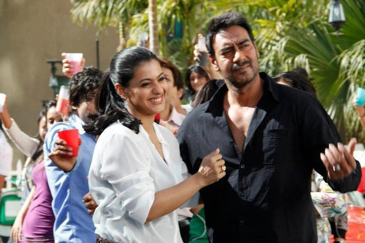 Ajay Devgan and Kajol On The Sets of Whirlpool Commercial Ad