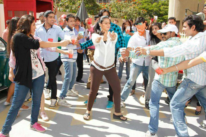 Kajol Dancing Still On The Sets of Whirlpool Commercial Ad
