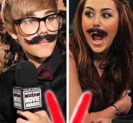 Justin Bieber and Miley Cyrus Latest Cute Photo